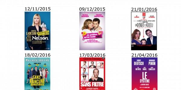 Les Nouvelles Théâtrales 2015-2016 sont là et votre offre exclusive également !