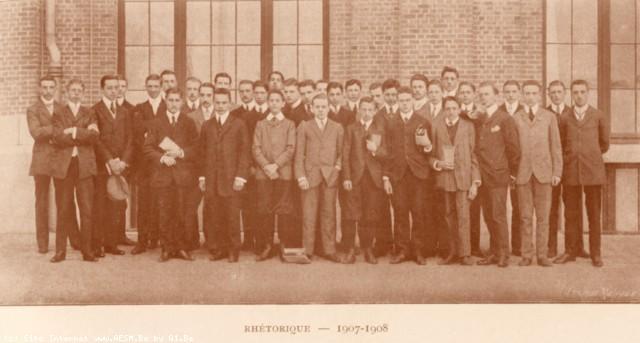 Album : 1908<br> 1908 A<br> Rhétorique 1907-1908.
