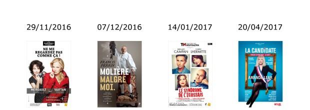 Les Théâtrales 2016-2017 : OFFRE EXCEPTIONNELLE réservée à l'AESM !