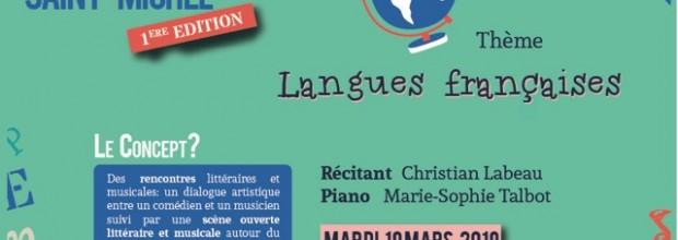 CERCLE LITTERAIRE : Langues françaises ce mardi 19 mars à 20H au Collège.