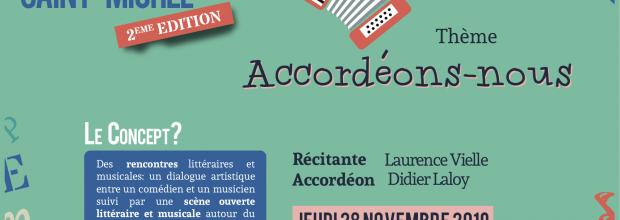 2è édition du Cercle Littéraire Saint-Michel : jeudi 28 novembre 19h à 21h (Salle Verte)