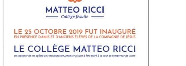 Compte-rendu de l'inauguration du Collège Matteo Ricci